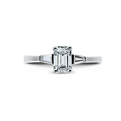 Emerald Cut Tapered Baguette Rings Emerald Cut Diamond Engagement Rings